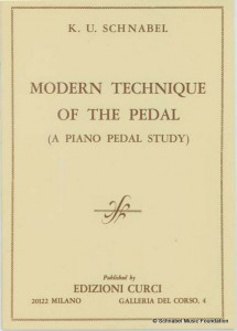 Karl Ulrich Schnabel: Modern Technique of the Pedal - A Piano Pedal Study.