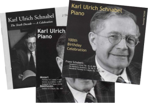 CDs of K.U.Schnabel playing classical Piano Music by Schubert, Beethoven, Mozart