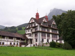 The Ital von Reding House houses a museum, library, and meeting halls. It dates from the early 1600s.